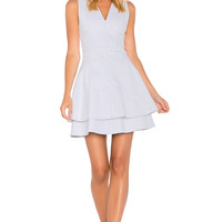 DEREK LAM 10 CROSBY Sleeveless Fit Flare Dress in Chalk | REVOLVE