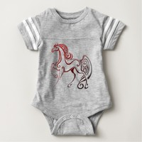 Horse Tails Baby Bodysuit