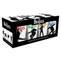 Vandor Beatles 16oz 4PK glass set