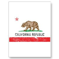 Vintage California Flag Post Card from Zazzle.com