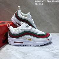 KUYOU N829 Nike Air Max 97 VF SW Cushion Sports Running Shoes White Red Green