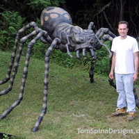 Large Foam Spider Prop for Halloween or Events - Tom Spina Designs