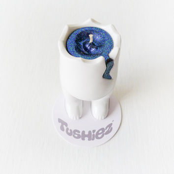 Tushiez Galactic Candle Crack Doll - WHITE - Cute Cool Unique Candles - Great Gifts - Limited Edition - Make Your Own Art - Happy Birthday