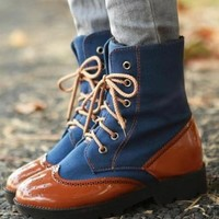 Denim Jeans Blue Punk Rock Funky Lace-Up Military Boots Denim Jeans Blue Punk Rock Funky Lace-Up Military Boots [SH-BT-DENMIL-B] - $49.99 : GrabMyLook, Trendy Street High Fashion Shop for Womens and Mens Clothings - Free Shipping & Returns