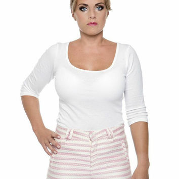 Molly Pink & White Striped Shorts - Two Set