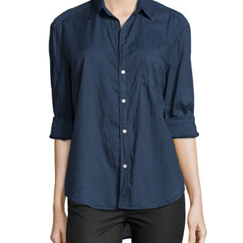 Long-Sleeve Eileen Cotton Shirt,