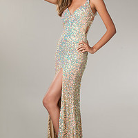 Long Sequin Dress for Prom by Primavera