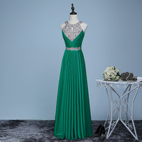 Long Prom Dresses 2017 Sexy Women Elegant Floor-length Formal Wedding Party Bridesmaid Prom Gown
