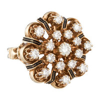 1.36ctw Vintage Diamond Cluster Ring