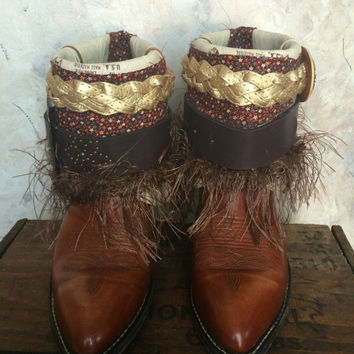 Acme Upcycled Western Cowboy Boots Size 7.5