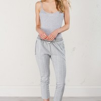 Adidas Cigarette Pant in Grey White