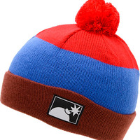 The Hundreds Tres Red Pom Fold Beanie