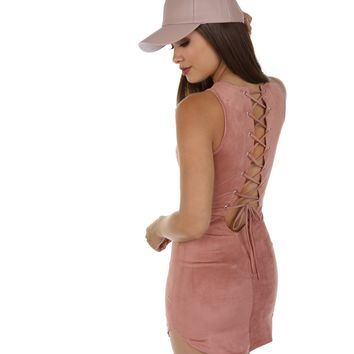 Pink Suede And Laces Tunic