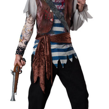Mens Dead Mans Chest Pirate Costume