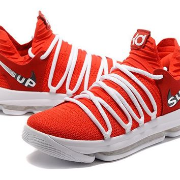 Nike Zoom KD 10 Red/White Basketball Shoe