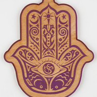 Hamsa Wall Art Purple Combo One Size For Women 27489176601