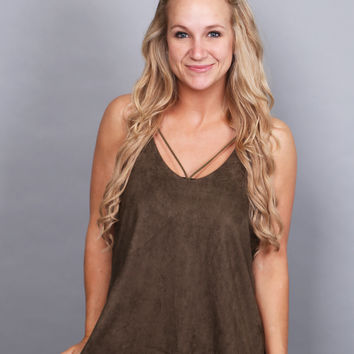 Twisted Sister Tank {Olive}