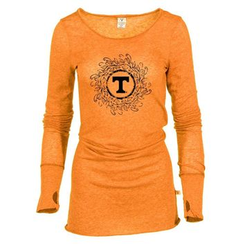 Official NCAA University of Tennessee Vols - 01AMFF18 Women's Sheer Long Sleeve Tee with Thumbholes