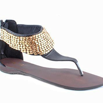MINA BEADED THONG SANDALS