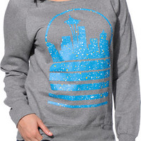 Casual Industrees Girls Seattle Sky Speckle Grey Crew Neck Sweatshirt