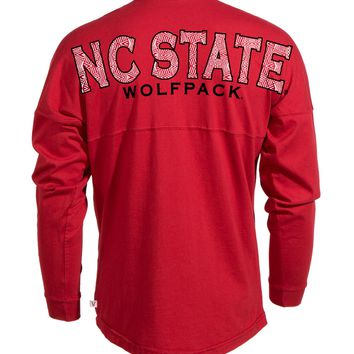 Official NCAA North Carolina State University Wolfpack NC State NCSU Women's Long Sleeve Spirit Wear Jersey T-Shirt