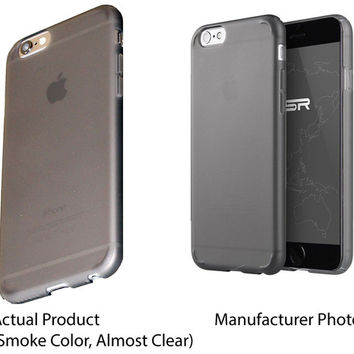 iPhone 6 Case, ESR® Essential Series Protective Case Bumper[360° Protection] [Scratch-Resistant] [Perfect Fit] Hard Translucent Black Back Cover [Matte Exterior] Snap-on Case for 4.7 inches iPhone 6 (Matte Black)