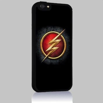 The Flash Logo for Iphone 4/4s 5 5c 6 6plus Case (iphone 6 black)