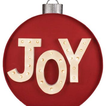 Joy Ornament Marquee Sign