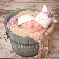 Crochet Baby Unicorn Hat and Critter Cape Set