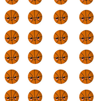 Sports Stickers, Basketball Stickers, Kawaii Sports, Planner Stickers, Kawaii Stickers, Cute Stickers, Planner Sticker Set, Reminder Sticker