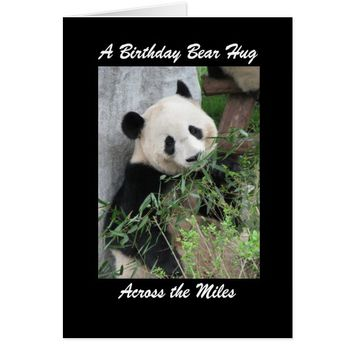 Panda Birthday Bear Hug Across the Miles Card