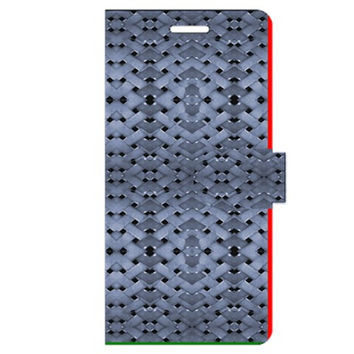 Futuristic Geometric Pattern Design Print in Blue Tones Apple iPhone 6 Plus Leather Folio Case