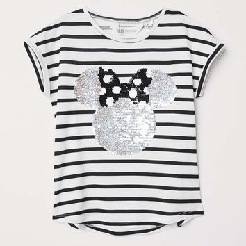 H&M Reversible Sequin T-shirt $14.99