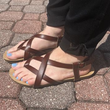 Get To You Sandals- Brown