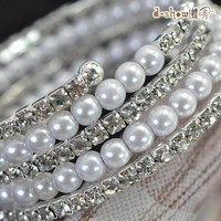 Great Deal Shiny Gift New Arrival Hot Sale Awesome Korean Pearls Stylish Bohemia Diamonds Bracelet [6045001985]