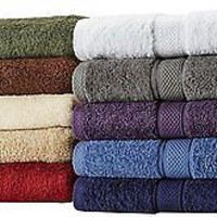 100-Percent Egyptian Cotton 725-Gram 6-Piece Towel Set Kitchen Dish Bathroom Red