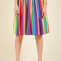 Aspiration Creation A-Line Skirt in Vibrant | Mod Retro Vintage Skirts | ModCloth.com