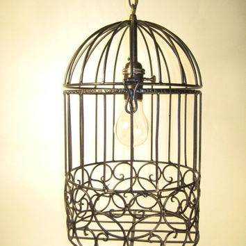 Bird Cage Chandelier by CottageDesigns on Etsy
