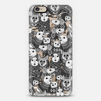 sweater mice transparent bw iPhone 6s case by Sharon Turner | Casetify