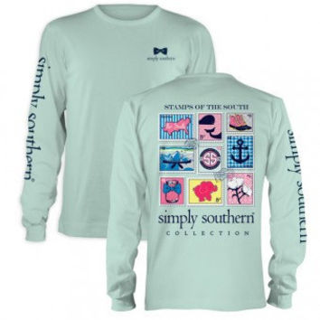 Simply Southern Prep Stamp Long Sleeve T-Shirt
