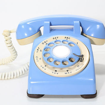 Refurbished Stromberg Carlson Rotary Aqua Blue Telephone