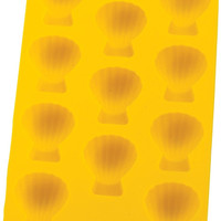 Yellow Silicone Shell Ice Cube Tray