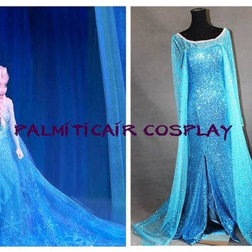 Frozen Elsa Costume Elsa Coronation Cosplay Outfitelsa coronation disney dress Custom & Frozen Elsa Costume Elsa Coronation from palmiticair on Etsy