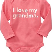 """I Love My ..."" Graphic Bodysuits for Baby"
