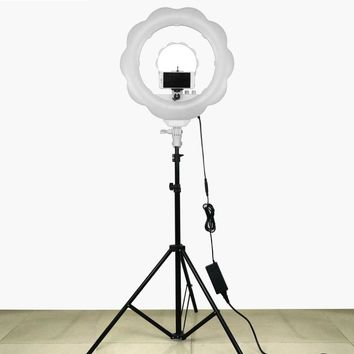 384pcs Super Bright LED Photography Light Dimmable Camera Ring Video Light Lamp For Makeup Studio/Video/Photo With Tripod Stand