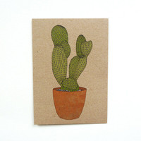 cactus card No.3 (100% recycled)