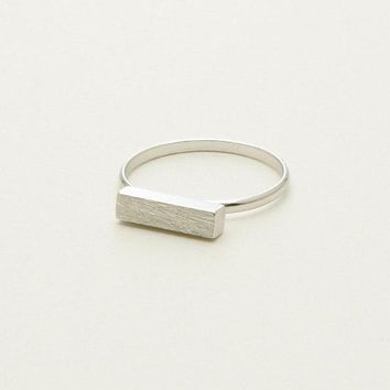 SMJEL Minimalist Long Bar Name Rings Women Simple Rectangle Rings For Female Anel Masculino Party Gifts Enagement Ring R247