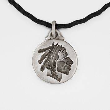 Unisex Native American Chief Pendant in Sterling Silver- USA- Complimentary Shipping