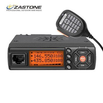 ONETOW Zastone Z218 Mobile Walkie Talkie 10 km 25W Dual Band VHF/UHF 136-174mhz 400-470mhz 10KM Car Radio Communicator Transceiver