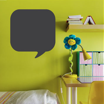 Chalkboard Thought Bubble Wall Decal